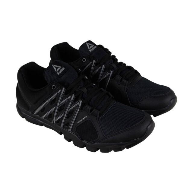 Reebok Yourflex Train 8.0 Lmt Mens Black Mesh Athletic Training Shoes e33cf4f07