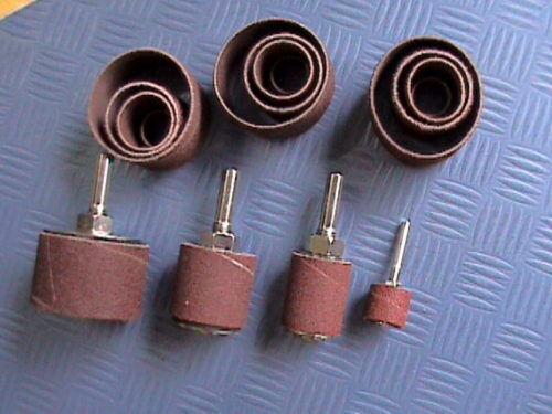 32 x Schleifband schleifzylinder schleifrolle Papier Abrasif 8 x Rouleau