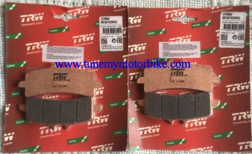 2 X TRW Lucas Plaquette De Frein Avant mcb792srq aprilia rsv4 factory 2010-2012