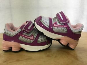 new style best quality thoughts on Details about Nike Shox Baby Toddler Size 2C Purple And Pink