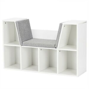 Kids-Bookcase-Storage-Organizer-With-Reading-Nook-White-Shelf-Kids-Toys-Books