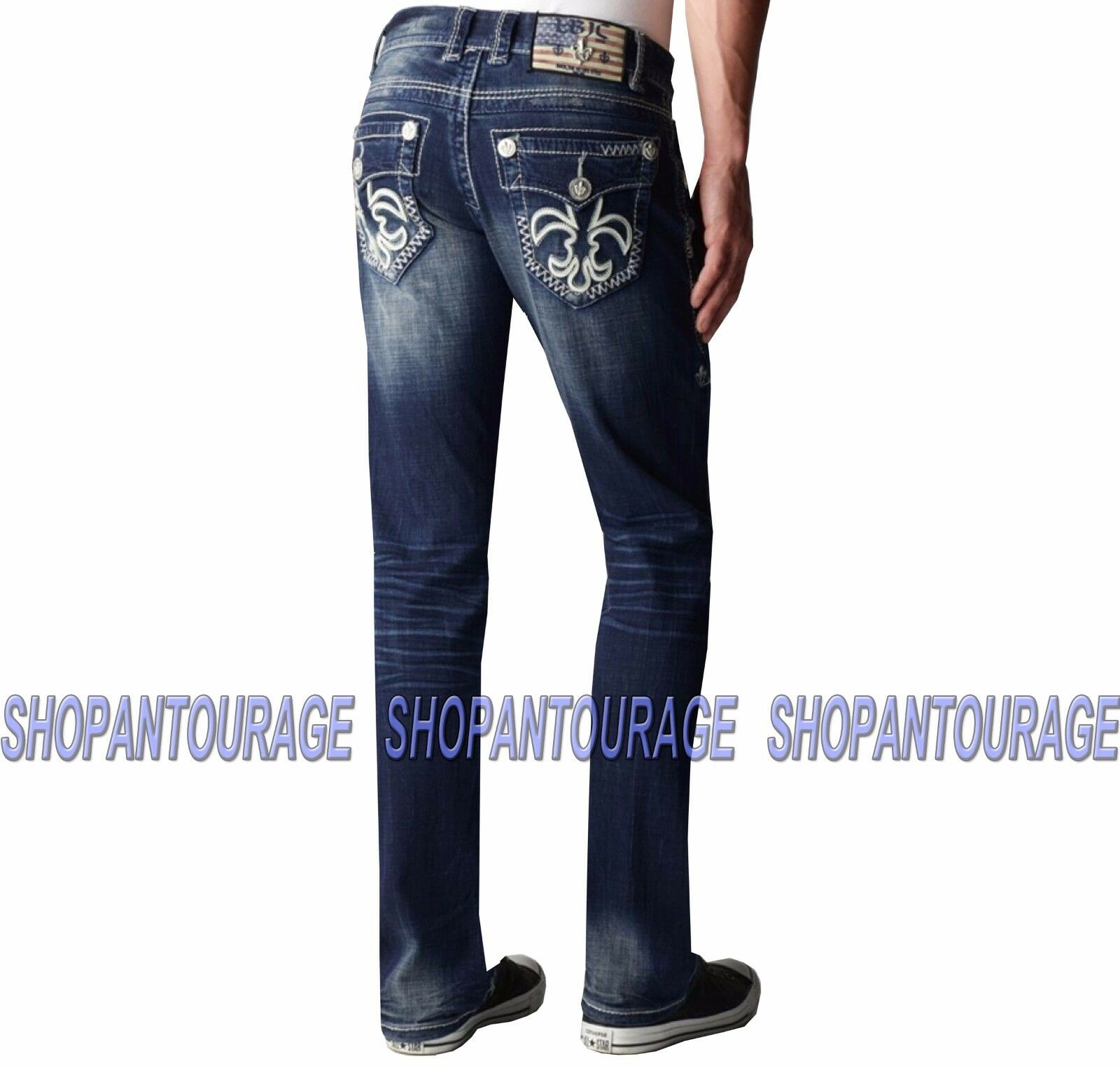 Laguna Beach Newport Beach M-1-A Men`s New Dark bluee Slim Straight Leg Denim