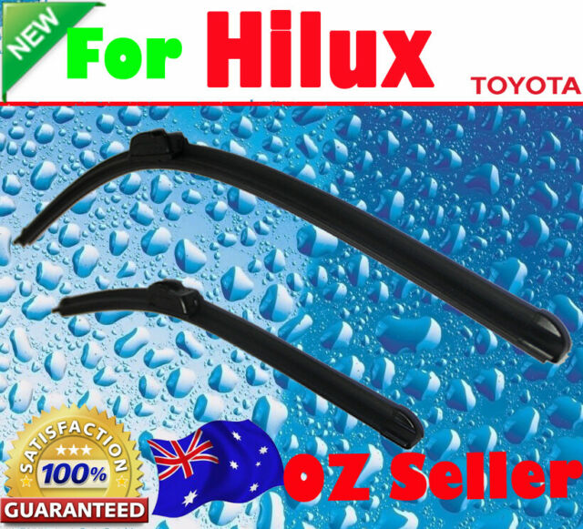 Pair Frameless Windscreen Wiper Blades suit TOYOTA HILUX  2005 - 2015