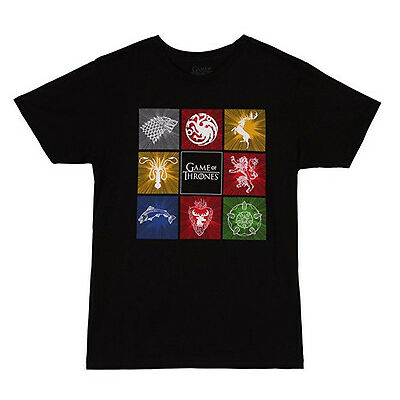 Game Of Thrones HOUSE CREST - EIGHT HOUSE SIGILS T-Shirt NWT Official
