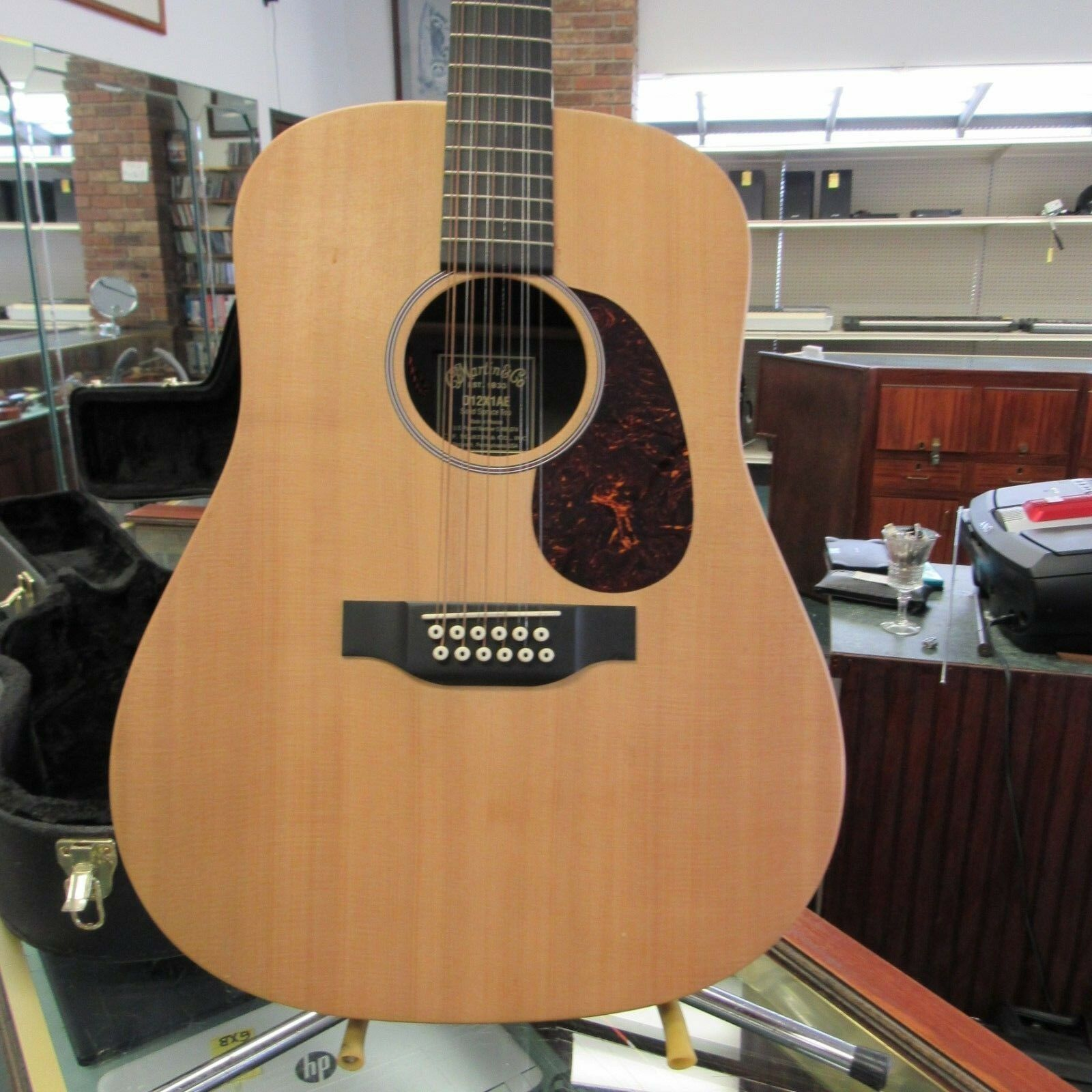 Martin D12X1AE 12 String Acoustic Electric Dreadnought Fishman Aftermarket Case