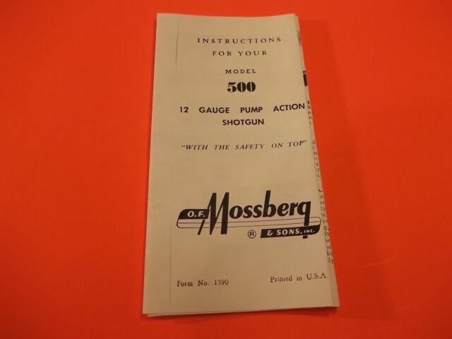 Mossberg Md 500 12 Ga Pump Action Shotgun Instructions Small Folded