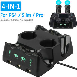 4-in-1-Controller-Charger-Dock-Station-Stand-For-PlayStation-PS4-MOVE-PS4-VR-New
