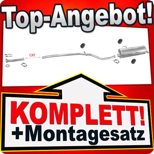 Rohr Auspuffanlage F16 Auspuff PEUGEOT 206 1.1 1.4 Schrägheck 1998-2001