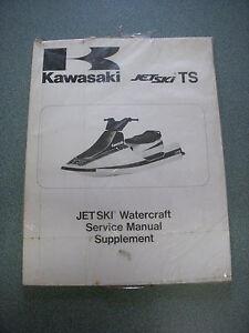 1989 1995 Kawasaki Jet Ski Ts Service Manual Supplement Pn 99924 1122 54 New Ebay