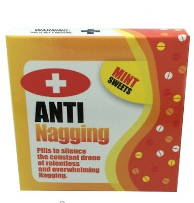 Anti Nagging Pills Funny Novelty Mints Office Joke Birthday Gifts Him Or Her 3996240425048
