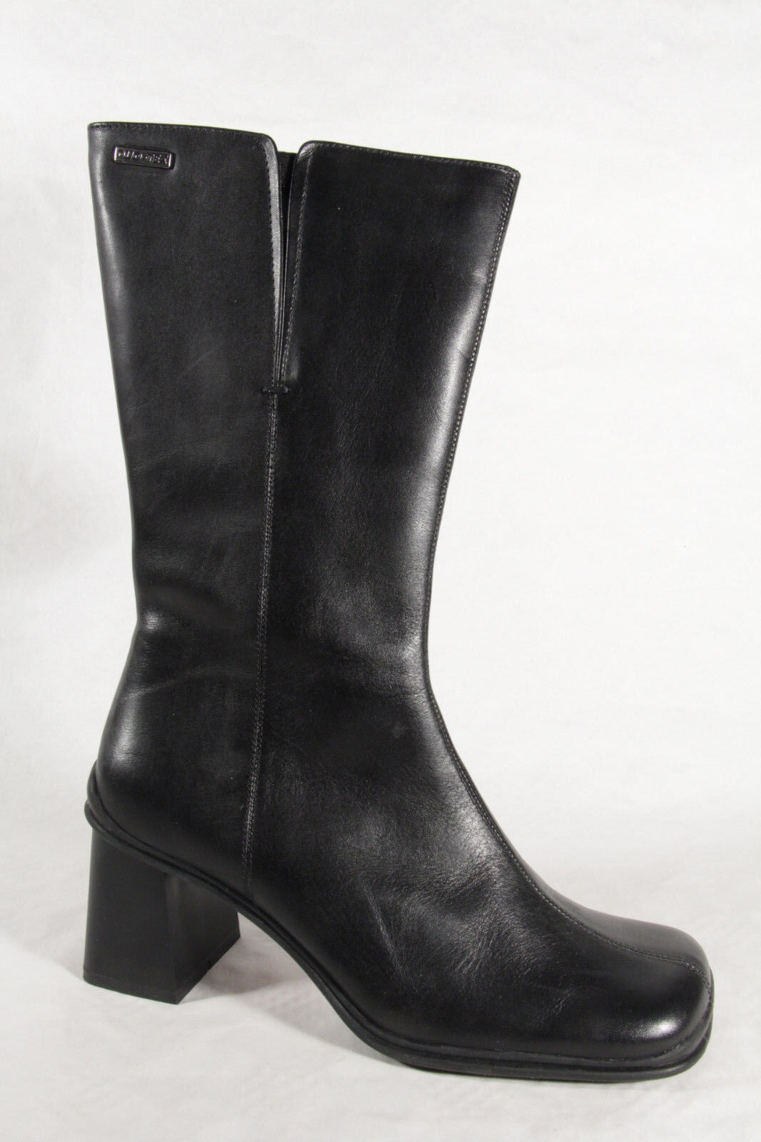 Ladies Boots Black Real Leather New