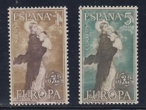 ESPANA-1963-MNH-NUEVO-SIN-FIJASELLOS-SPAIN-EDIFIL-1519-20-EUROPA-CEPT