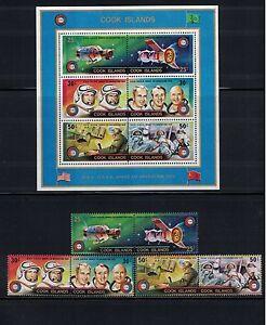 Br CW: Cook Isles 1975: #427-429c Se-tenant Prs Apollo/Soyuz Space NH - Lot#7/22