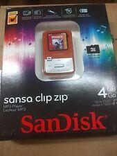 SanDisk Sansa Clip Zip Orange (4 GB) Digital Media Player