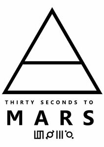 T-SHIRT-MAGLIA.MAGLIETTA THIRTY SECOND TO MARS happiness-DIVERTENTI-STAMPATE