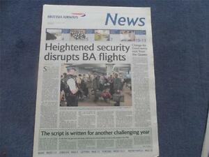 British Airways News January 8th 2004 Concorde Articles