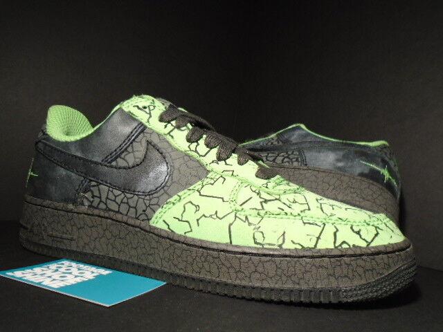 2006 Nike Air Force 1 '03 RADIANT GREEN BLACK HUF QUAKE CEMENT 315206-301 11