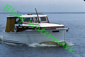 Details about Old Wood Cabin Cruiser Boat Nautical Scene Kewaunee WI 1960  Kodak 35mm Slide