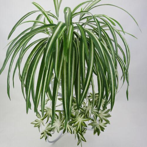 Artificial Plants Silk Spider Chlorophytum Faux Green Hang Home Wedding Decor