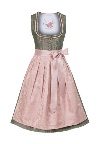 Dirndl midi 68 cm Jessica smaragd-grün rose Stockerpoint Trachtenkleid Mididirnd