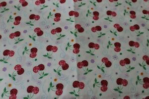 FAT QUARTER Red and Pink Cherry Cherries Cotton Fabric Quilt