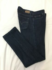 LEVI-039-S-Womens-Stretch-MID-RISE-SKINNY-Blue-Jeans-Denim-Size-8-M