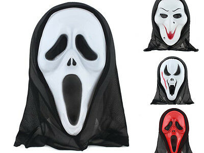 Witch Skeleton Scream Scared Face Mask For  MASQUERADE Party Halloween Carnival