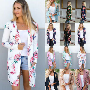 Women-039-s-Boho-Floral-Print-Long-Sleeve-Cardigan-Casual-Jacket-Coat-Kimono-Outwear