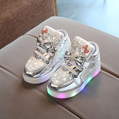 Kids Boys Girls LED Shoes Light Up Luminous Children Anti-slip Sport Sneaker