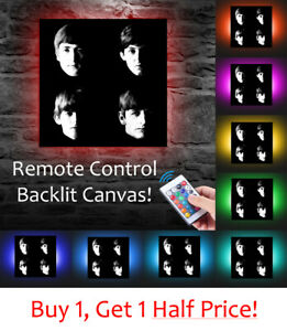 THE-BEATLES-LED-BACKLIT-Canvas-USB-Powered-POP-ART-BOX-CANVAS-POSTER-PRINT