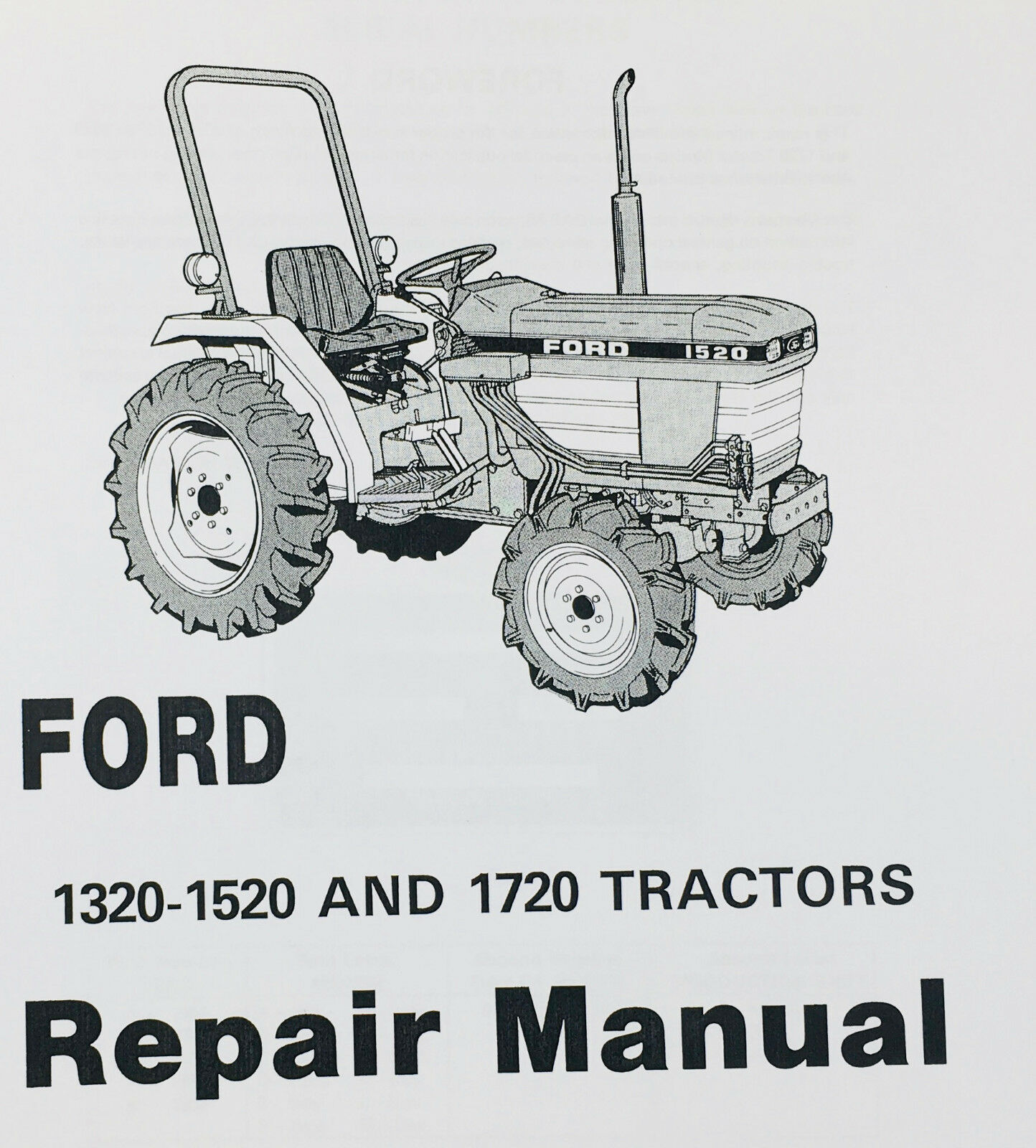 Ford 1320 1520 1720 Tractor Service Manual Technical Repair Shop Workshop |  eBay
