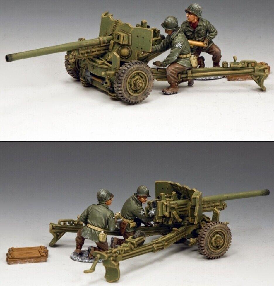 KING & COUNTRY BATTLE OF THE BULGE BBA083 U.S. M1A1 57MM ANTI TANK GUN SET MIB