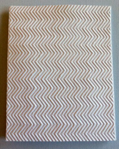 4 STAMPIN/' UP EMBOSSED CHEVRON CARD FRONT PHOTO MAT OR BACKGROUND. A2 SIZE