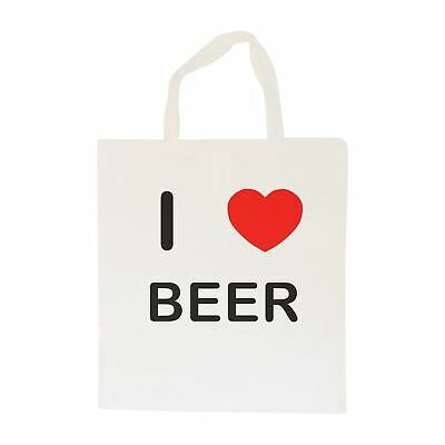 I Love Beer - Cotton Bag | Size choice Tote, Shopper or Sling