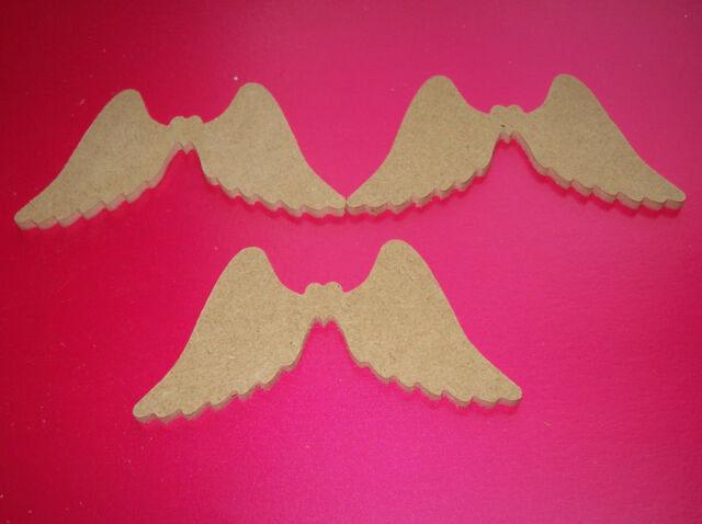 15x 100mm MDF Angel Wings 4mm thick craft blank