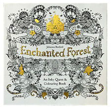 Enchanted Forest An Inky Quest And Colouring Book By Johanna Basford 2015 Paperback