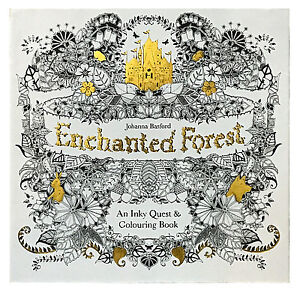 Image Is Loading Enchanted Forest An Inky Quest And Coloring Book