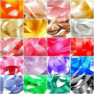 25mm-1-034-Quality-Double-Sided-Satin-Polyester-Ribbon-Woven-Edge-27-Colours