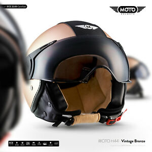 moto h44 v bronze jet helm motorrad helm roller scooter. Black Bedroom Furniture Sets. Home Design Ideas