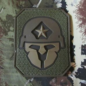 MODERN-SPARTAN-PVC-FOREST-TACTICAL-US-ARMY-MORALE-PATCH-W-VELCRO-BRAND-FASTENER