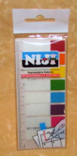 120 SEGNAPAGINA RIPOSIZIONABILE E SCRIVIBILE 1,2x4,5cm  cod.15441