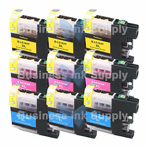 9-COLOR-LC103XL-HIGH-YIELD-LC103-Ink-Cartridge-VERSION-3-Chip-for-BROTHER