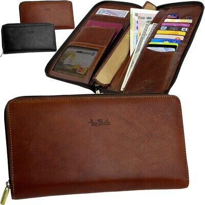 Tony Perotti-big-viaggio-portafoglio Clutch Bag-travel-wallet Astuccio Cartella Nuovo-mostra Il Titolo Originale