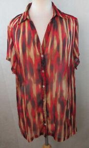 AVENUE-18-20-Plus-Size-Button-Down-Shirt-Blouse-Animal-Print-Semi-Sheer-P8-13