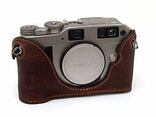 Leather Contax G1 or G2 Brown Half Case - BRAND NEW