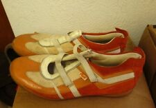 PONY Panache leather Tennis Shoes vtg beat-up orange 1980s size 9.5 track field