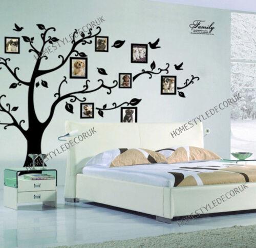 X gran árbol familiar aves foto marco de citas pegatinas de pared Hogar Arte calcomanías Decoración