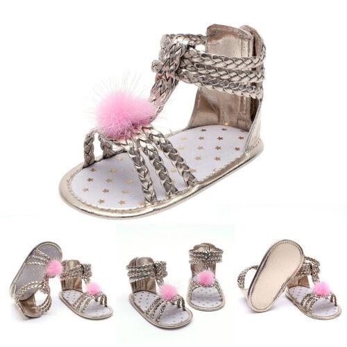 Infant Baby Soft Sole Prewalker Crib Shoes Princess Girl Summer Sandals Shoes