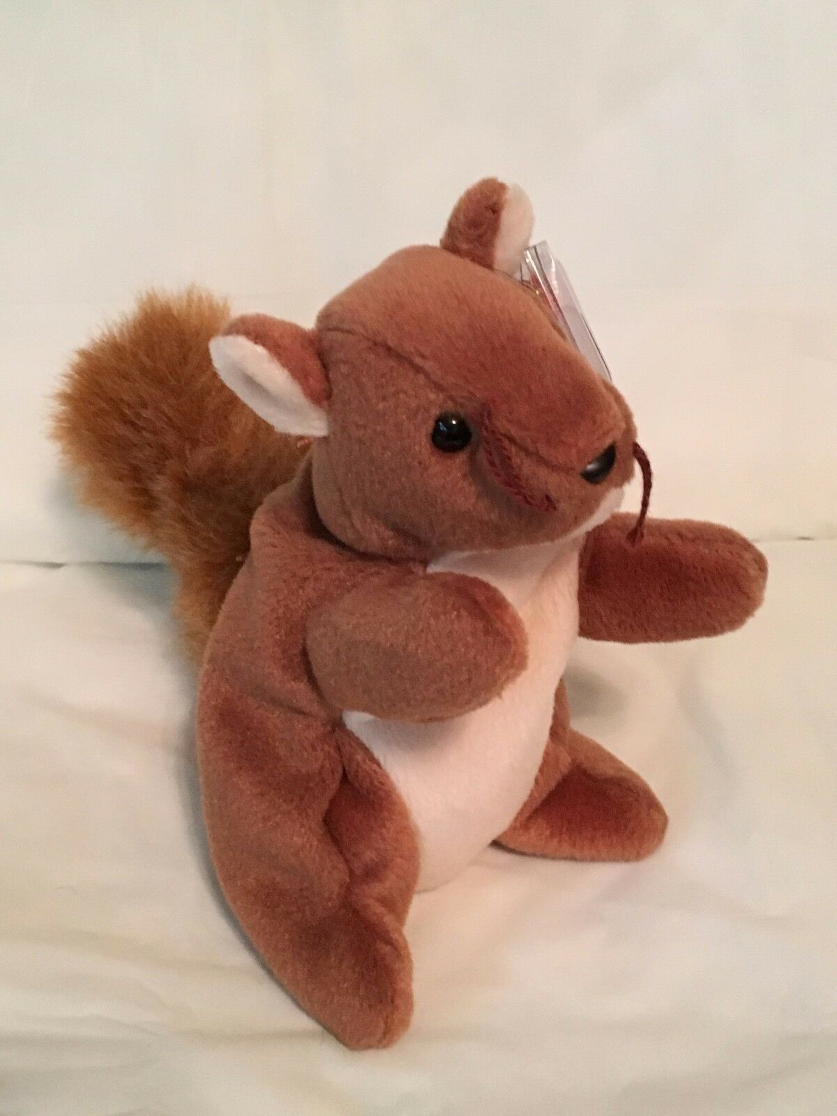 TY Beanie Baby - NUTS the Squirrel -Pristine with Mint Tags -PVC Pellets-RETIRE