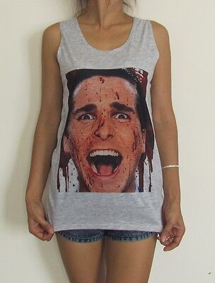 Unisex American Psycho Christian Bale Vest Tank Top Singlet Sizes S M L XL